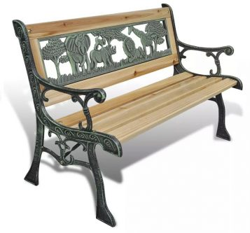 Drewniana ławka ogrodowa dla dzieci ponter – brązowa