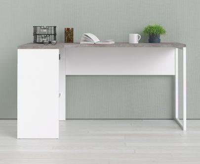 Biurko narożne function 118 biały/beton