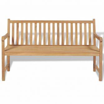 Drewniana ławka ogrodowa tanas 2x – brązowa