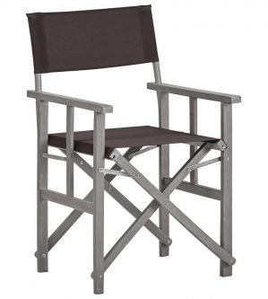 Krzesło reżyserskie ogrodowe martin – czarne