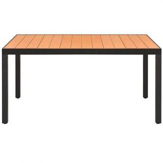 Stół ogrodowy, na podwórko i na patio sama 2x – brązowy