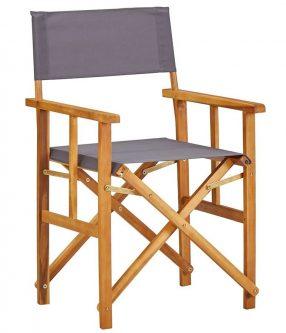 Zestaw krzeseł reżyserskich ogrodowych martin – szare