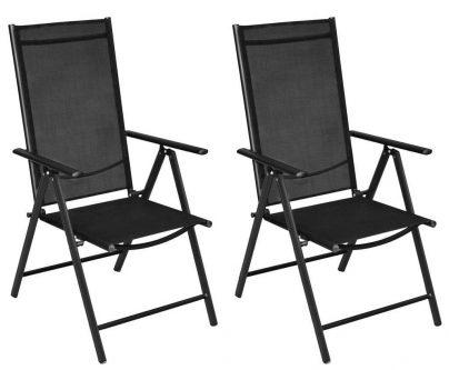 Składane krzesła ogrodowe safari 2 szt.
