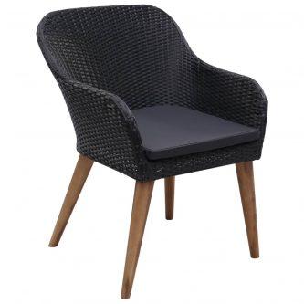 Zestaw krzeseł ogrodowych fring – czarny