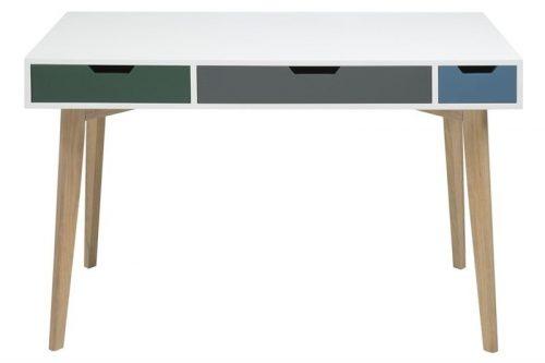 Nowoczesne biurko z kolorowymi szufladami tess