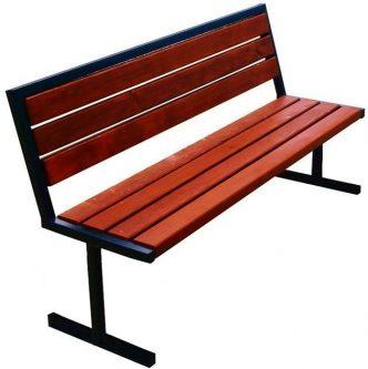 Nowoczesna ławka parkowa kalipso 2x 150 cm – 84 kolory orzech