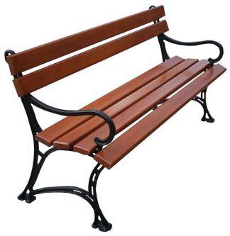 Aluminiowa ławka ogrodowa helen 3x 150cm – 7 kolorów orzech