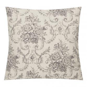 Szara poduszka dekoracyjna hampton french 45×45