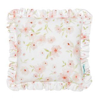 Kwadratowa poduszka dziecięca z falbanką blossom