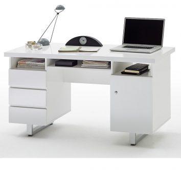 Białe biurko w wysokim połysku barney 3+1