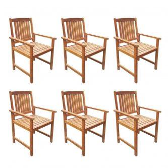 Drewniany zestaw mebli ogrodowych kint 3x – brązowy
