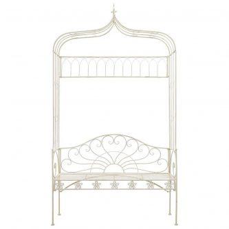 Klasyczna ławka ogrodowa heine – biała