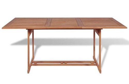 Stół ogrodowy crayon – lite drewno tekowe