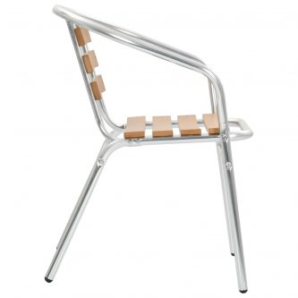 Zestaw metalowych krzeseł ogrodowych folind 3x – srebrny
