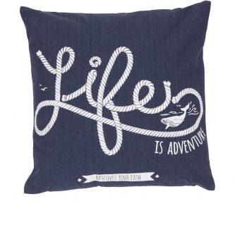 Dekoracyjna poduszka z morskim motywem life 47×47