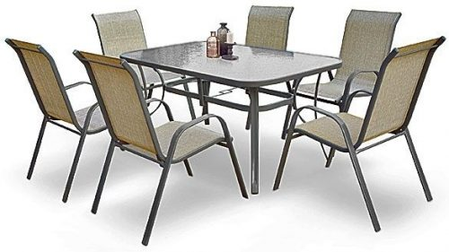 Szklany stół ogrodowy malaga – prostokątny