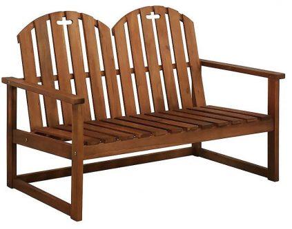 Drewniana ławka ogrodowa manus – brązowa