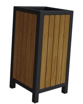 Drewniany kosz na śmieci norin – 24 kolory wenge