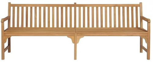 Drewniana ławka do ogrodu lexter 2x – brązowa