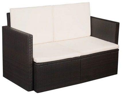 Sofa ogrodowa jules – brązowa