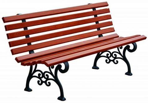 Romantyczna ławka parkowa halszka 180 cm – 7 kolorów orzech