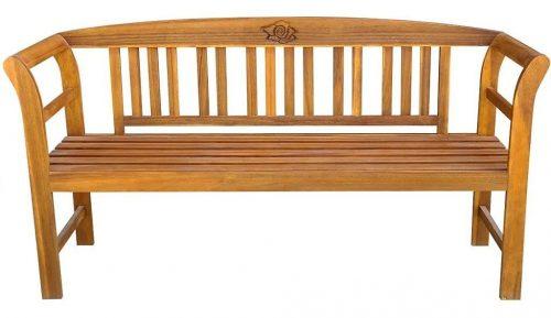 Drewniana ławka ogrodowa nuln – brązowa