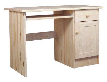 Biurko z drewna sosnowego z szafką i szufladką modern ii