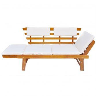 Drewniana ławka ogrodowa issen – brązowa