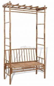 Drewniana ławka ogrodowa zenta – brązowa