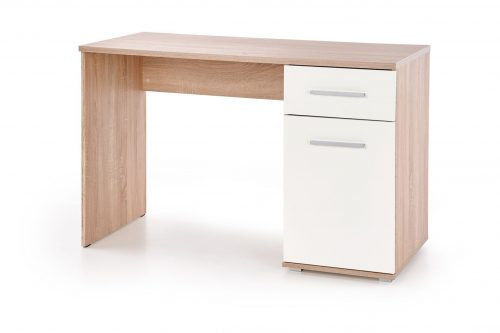 Nowoczesne biurko lima b1 dąb sonoma / biały