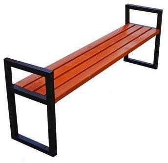 Nowoczesna drewniana ławka parkowa dianema 180 cm – 84 kolory orzech