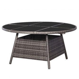Czarujący stół ogrodowy viza 2q – szary