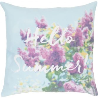 Poduszka z kwiatami i ozdobnym napisem june 45×45