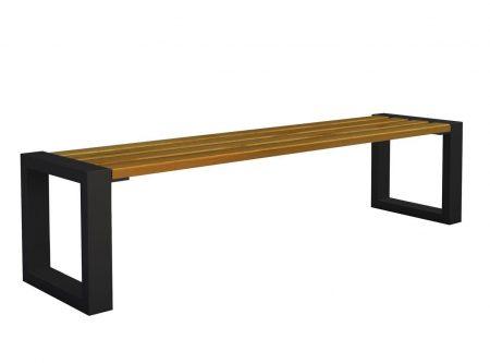 Ławka miejska norin 3x black 150cm – 8 kolorów wenge