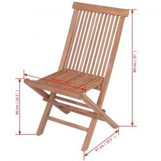 Składane krzesła ogrodowe tekowe soriano – 2 szt