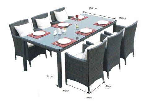 Zestaw stołowy do ogrodu gustoso