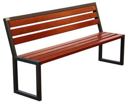 Ławka parkowa gloria 180 cm – 84 kolory orzech