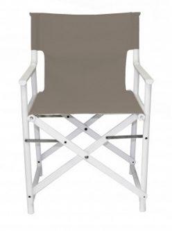 Składane krzesło na białym stelażu boss wenge