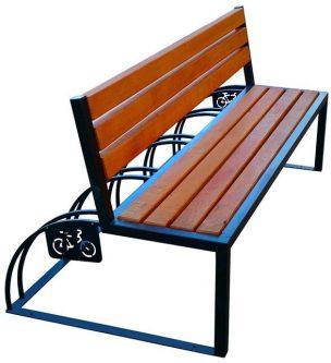 Ławka parkowa drewniana ronson 150 cm – 84 kolory orzech