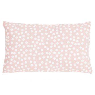Dekoracyjna poduszka w groszki allover dots 30×50 różowa
