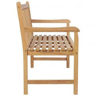 Drewniana ławka do ogrodu lexter – brązowa