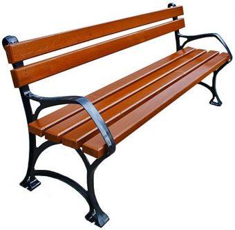 Aluminiowa ławka ogrodowa sovella 180cm – 7 kolorów orzech