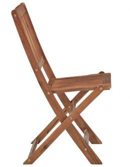 Krzesła ogrodowe akacjowe mandy – 2 szt.