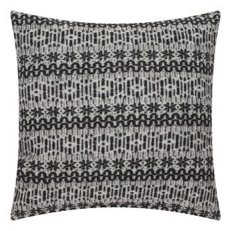 Wzorzysta poduszka new nordic 45×45 czarno biała