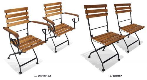 Składane krzesła tarasowe dixter 2x – 2 szt.