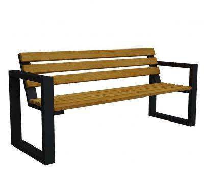 Ławka ogrodowa norin black 150cm – 8 kolorów wenge