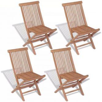 Tekowe krzesła ogrodowe soriano – 4 szt