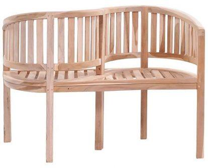 Drewniana ławka ogrodowa serpent – brązowa