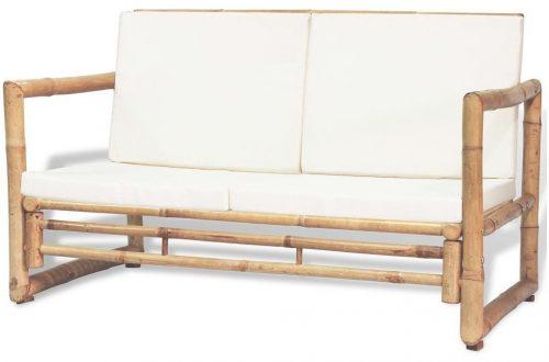 Bambusowa sofa ogrodowa belta – brązowa