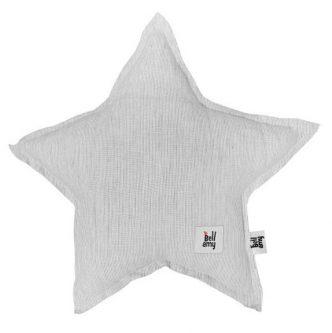 Lniana poduszka dziecięca w kształcie gwiazdki true stripes